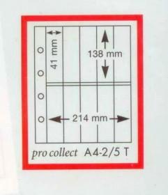 Alemanha - Capas Plástica protetora Pro Collect   A A4- 2/5  Item novo em folha, fechado, sem nenhum dano  PACOTE COM 10 UNIDADES