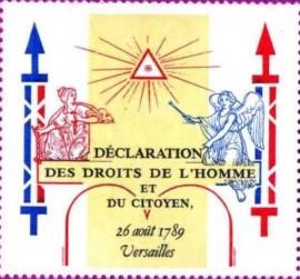 FRANÇA-1989 - Declaração dos Direitos do Homem e do Cidadão - MINT -  Série Completa- 4+1-  Destaque para a imagem do Delta na filipeta.