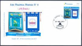 2017-Brasil -Personalizado - Envelope Copmemorativo -  49º Aniversário da Loja Mutirão Nº11 - CD  Brasília-DF .
