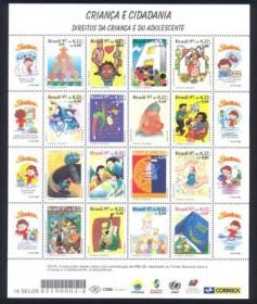 1997-MINT - Mini Folha Criança e Cidadania - (Seninha) -Cartela do Lançamento (Correios) - ( Com autógrafo de Ruth Cardoso e Viviane Senna) - Edital