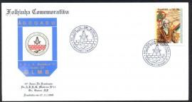 CARTOLINA -Brasil - 2000 CBC Brasília-DF - 32 Anos de Fubdação da Loja Maçônica Mutirão Nº 11