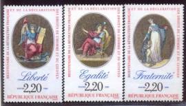 FRANÇA- 1989- MINT-  BICENTENARIO DA REVOLUÇÃO FRANCESA