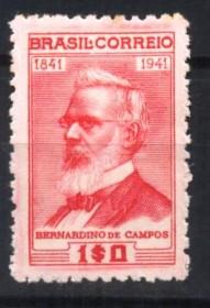 Brasil -  Bernardino de Campos - MINT- charneira