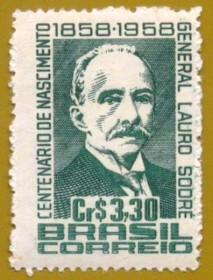 Brasil - 1958 - Lauro Sodré - Novo