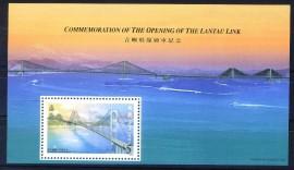 Hong Kong -1997 - MINT - Abertura da Ponte Lantau Link.