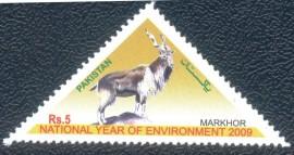 Paquistão - 2009-MINT - O Bode no Triângulo. Lindo selo,com um dos mais fortes símbolos populares maçônico.