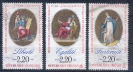 França - 1989- Liberdade - Igualdade - Fraternidade -  USADO